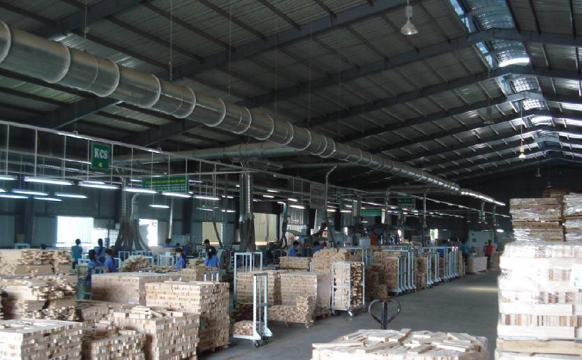 Hệ thống hút bụi trong xưởng gỗ