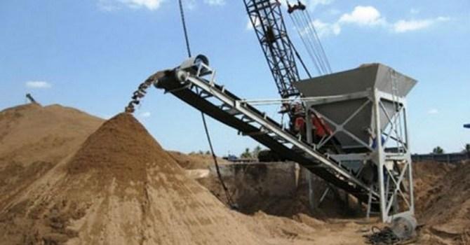 Băng tải vận chuyển cát