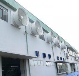 2 lưu ý quan trọng khi lắp đặt quạt thông gió nhà xưởng công nghiệp.
