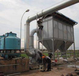 Hệ thống xử lý hút bụi xi măng của thiết bị toàn cầu
