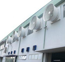 Quạt thông gió nhà xưởng với những tính năng vượt trội