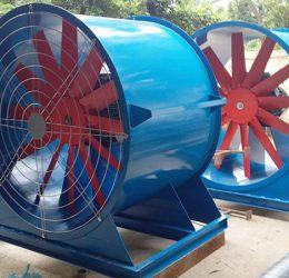 Quạt thông gió hướng trục là gì? ưu điểm của quạt trong sản xuất